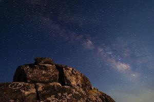 The Summer Milky Way and Ancient Native American Petroglyph by Babak Tafreshi