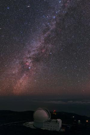 The William Herschel Telescope Below the Milky Way by Babak Tafreshi