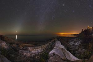 Wide-Angle of the Night Sky with Zodiacal Light, Venus, the Milky Way, Jupiter, and City Lights by Babak Tafreshi