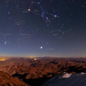 Winter Stars Rise Above Zagros Mountains on a Moonlit Night by Babak Tafreshi