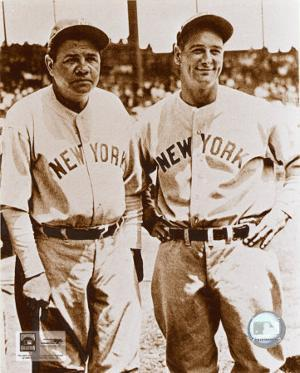 Babe Ruth and Lou Gehrig
