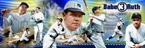 Babe Ruth Color Panoramic Photo