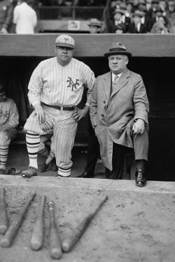Babe Ruth in a Ny Giants Uniform with Giants Manager John Mcgraw, Oct. 23, 1923