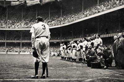 Babe Ruth Retirement New York Yankees Sports Plastic Sign