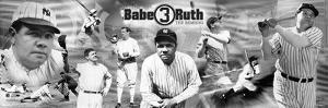 Babe Ruth Sepia Panoramic Photo