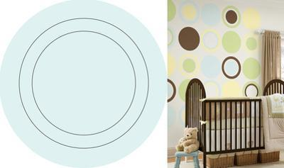 Baby Blue Concentric Dot Wall Decal Sticker