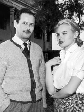 BABY DOLL, 1956 On the set, Eli Wallach and Carroll Baker (b/w photo)