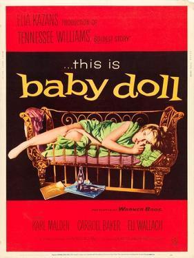Baby Doll, Carroll Baker on US poster art, 1956
