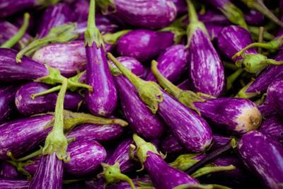 Baby Eggplants Fresh Produce Photo Poster Print