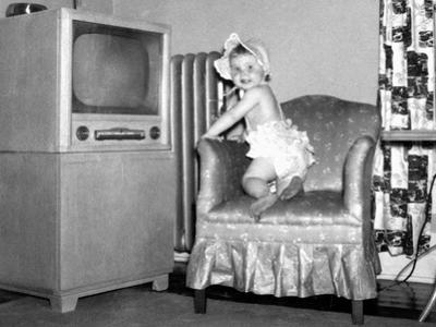 Baby Girl Wants to Watch Television, Ca. 1954