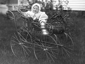 Baby in a Baby Carriage, Ca. 1895