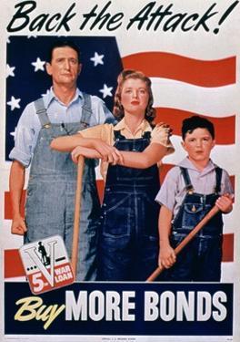 Back the Attack, Buy More Bonds', 2nd World War Poster