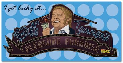 Back to the Future - Biff's Pleasure Palace Beach Towel