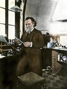 Bacteriologist Elie Metchnikoff in His Laboratory