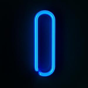 Neon Sign Letter I by badboo