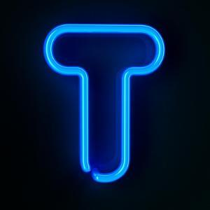 Neon Sign Letter T by badboo