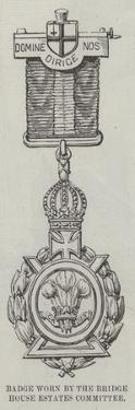 Badge Worn by the Bridge House Estates Committee at the Opening of the Tower Bridge