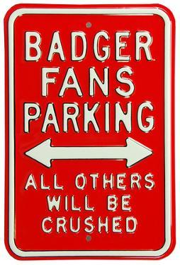 Badgers Crushed Parking Steel Sign