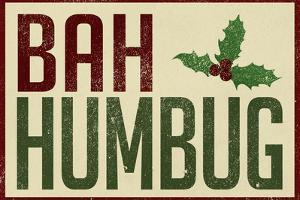 Bah Humbug! Holiday Plastic Sign