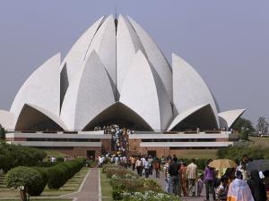 Baha'I House of Worship, Lotus Temple, Delhi, India, Asia