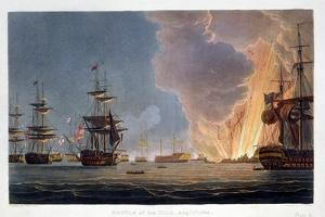 The Battle of the Nile, 1st August 1798 (1816) by Bailey