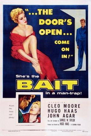 Bait, Top from Left: Cleo Moore, John Agar, Bottom Right: Cleo Moore, 1954