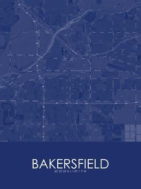 Bakersfield, United States of America Blue Map