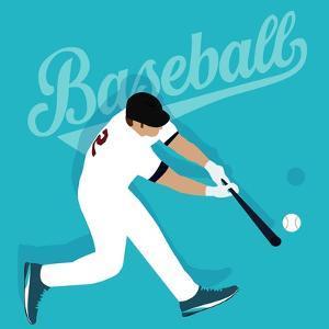 Baseball Player Hit Ball American Sport Athlete by Bakhtiar Zein