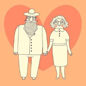 Elderly Couple. Grandparents. by Baksiabat