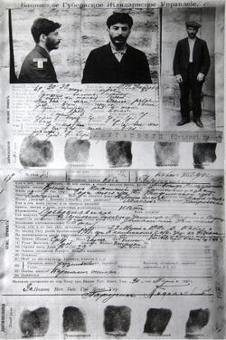 Baku Police Form of the Political Criminal J Jugashvili (Stali), 1910