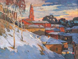 Kind On A Winter City, Oil On A Canvas by balaikin2009