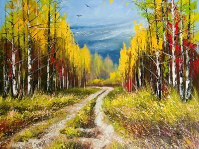 Oil Painting - Gold Autumn by balaikin2009