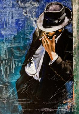Portrait Of The Man With A Cigarette by balaikin2009