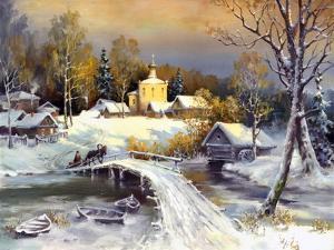 Rural Landscape, Oil On A Canvas by balaikin2009