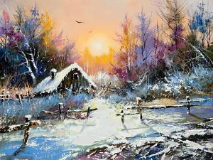 Rural Winter Landscape by balaikin2009