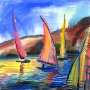 Sailing Boats In The Sea by balaikin2009