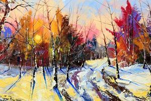 Sunset In Winter Wood by balaikin2009