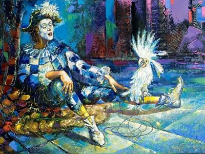 The Harlequin And A White Parrot by balaikin2009