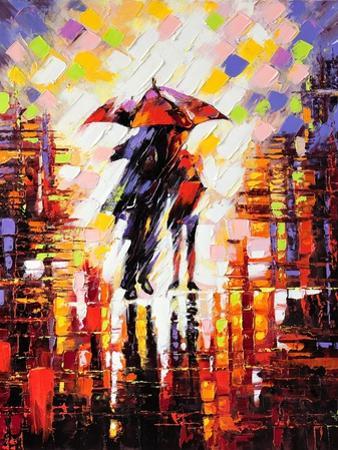 Two Enamoured Under An Umbrella by balaikin2009