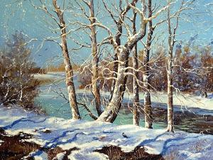 Winter Landscape On The Bank Of The River by balaikin2009