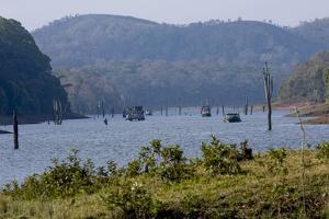 Boating, Periyar Tiger Reserve, Thekkady, Kerala, India, Asia by Balan Madhavan