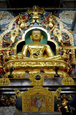 Buddhist Golden Temple in Bylakuppe, Coorg, Karnataka, India, Asia by Balan Madhavan