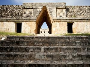 Governor's Palace in the Mayan Ruins of Uxmal, UNESCO World Heritage Site, Yucatan, Mexico by Balan Madhavan