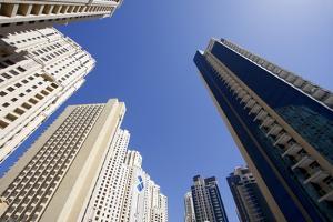 High Rise Buildings, Dubai, United Arab Emirates, Middle East by Balan Madhavan