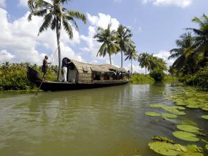 Houseboat in Murinjapuzha, Near Vaikom, Kerala, India by Balan Madhavan
