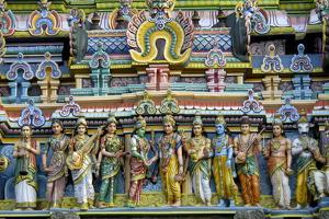 Intricate Carving Work on the Gopuram of a Temple, Tamil Nadu, India, Asia by Balan Madhavan