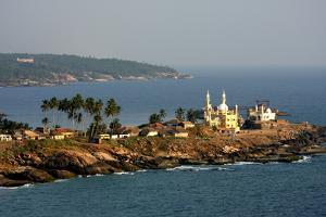 Mosque by the Seashore, Kovalam, Trivandrum, Kerala, India, Asia by Balan Madhavan