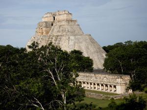 The Pyramid of the Magician, Uxmal, UNESCO World Heritage Site, Yucatan, Mexico, North America by Balan Madhavan