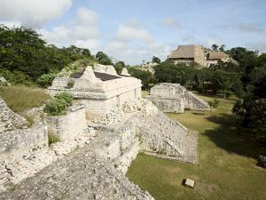 The Twin Pyramids, Mayan Ruins, Ek Balam, Yucatan, Mexico, North America by Balan Madhavan