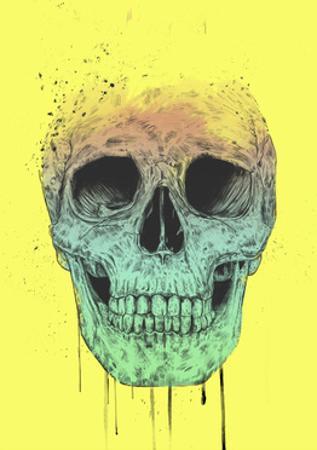 Pop Art Skull by Balazs Solti